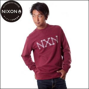 NIXON/ニクソン トレーナー プルオーバークルーネック メンズ バーガンディヘザー 赤 yoko-nori