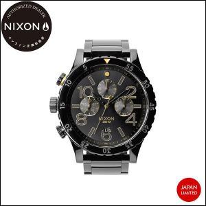 NIXON ニクソン 腕時計 メンズ THE 48-20 CHRONO ALLBLACK/GOLD JPN 日本限定 ブラック ゴールド 正規販売店 yoko-nori