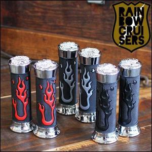 ビーチクルーザー RAINBOW FLARE GRIP レインボー フレアーグリップ 3色バリ|yoko-nori