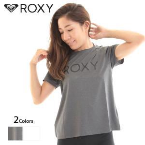 ROXY ロキシー レディース 半袖 Tシャツ 速乾 UVカット ロゴ 水陸両用 ラッシュ TEE|yoko-nori