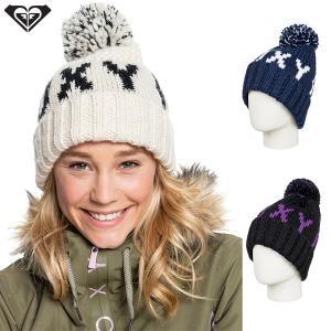 ROXY ロキシー ビーニー 帽子 ニット帽 スノーボード  TONIC BEANIE ポンポン|yoko-nori