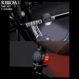 BMX SUBROSA サブローザ COMBATLIGHT コンバットライト 前後セット LEDライト 自転車|yoko-nori
