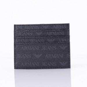 アルマーニジーンズ(ARMANI JEANS) カードケース PVC ブラック 【正規取扱店】|yokoaunty