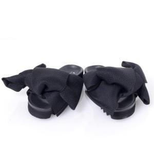 ジョシュアサンダース(joshua sanders) メッシュボウ付きサンダル リボン ブラック 【正規取扱店】|yokoaunty