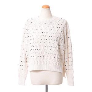コーヘン(Coohem) ドット模様セーター コットンミックス ホワイト|yokoaunty