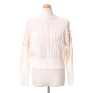コーヘン(Coohem) 模様編みセーター コットンミックスニット ホワイト|yokoaunty