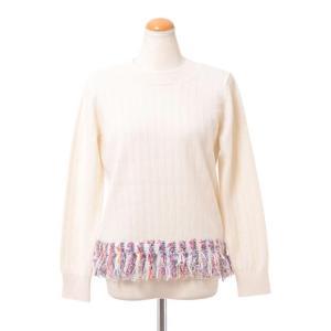 コーヘン Coohem 丸襟ツィード裾セーター ウール アイボリー|yokoaunty