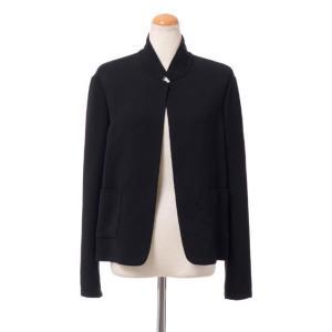 アニオナ AGNONA スタンドカラージャケット 羊毛 ブラック yokoaunty