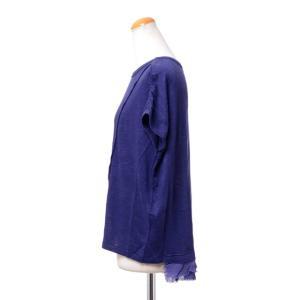 パドカレ pas de calais 別布付き半袖Tシャツ リネン天然染め パープル yokoaunty 02