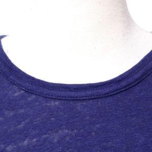 パドカレ pas de calais 別布付き半袖Tシャツ リネン天然染め パープル yokoaunty 04