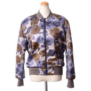 エリカ カヴァリーニ セミクチュール(ERIKA CAVALLINI semi-couture) ブルゾン ウール混合 フワラープリント 【正規取扱店】|yokoaunty
