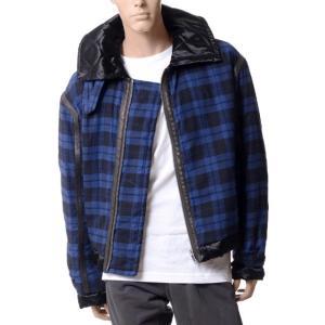 ハイダーアッカーマン(Haider Ackermann) チェックジャケット ブルーブラック|yokoaunty