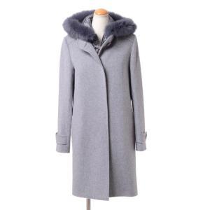 インポートブランド(import brand) ライナー付きコート 羊毛混合 ライトグレー|yokoaunty