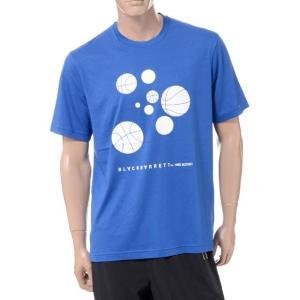 ニールバレット Neil Barrett ブラックバレットバイニールバレット black barrett by neil barrett バスケットボールプリントクルーネック半袖Tシャツ ブルー yokoaunty