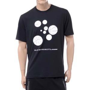 ニールバレット Neil Barrett ブラックバレットバイニールバレット black barrett by neil barrett バスケットボールプリントクルーネック半袖Tシャツ ブラック yokoaunty
