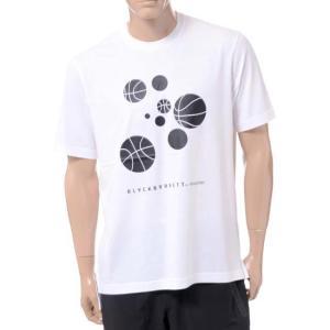 ニールバレット Neil Barrett ブラックバレットバイニールバレット black barrett by neil barrett バスケットボールプリントクルーネック半袖Tシャツ ホワイト yokoaunty