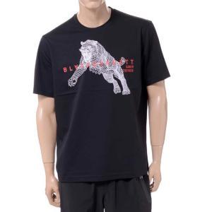 ブラックバレット BLACKBARRETT バイニールバレット by neil barrett 3Dメッシュタイガープリントクルーネック半袖Tシャツ コットン ブラック yokoaunty