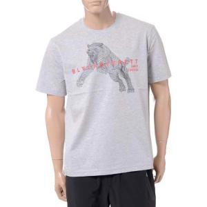 ブラックバレット BLACKBARRETT バイニールバレット by neil barrett 3Dメッシュタイガープリントクルーネック半袖Tシャツ コットン グレー yokoaunty