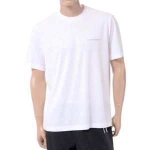 ニールバレット Neil Barrett ブラックバレットバイニールバレット black barrett by neil barrett ロゴプリントクルーネック半袖Tシャツ コットン ホワイト yokoaunty