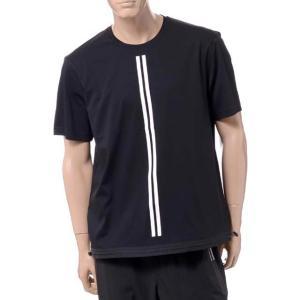 ブラックバレット BLACKBARRETT バイニールバレット by neil barrett ダブルストライプクルーネックイージーフィットTシャツ コットン ブラック yokoaunty