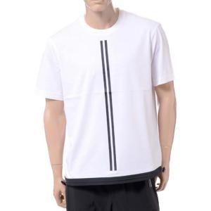 ブラックバレット BLACKBARRETT バイニールバレット by neil barrett ダブルストライプクルーネックイージーフィットTシャツ コットン ホワイト yokoaunty