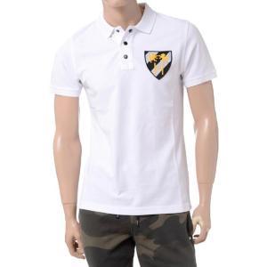 ハイドロゲン(Hydrogen) ワッペン付き半袖ポロシャツ ホワイト|yokoaunty