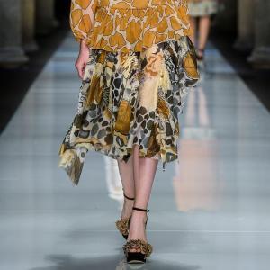 マウリツィオ ペコラーロ(Maurizio Pecoraro) ギャザースカート シルクコットン フラワープリント yokoaunty
