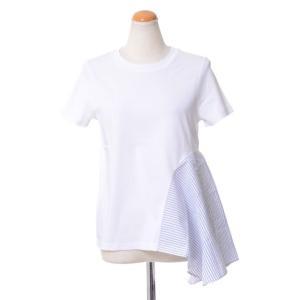 ステラマッカートニー (stella mccartney ) アシンメトリーTシャツ コットン ピュアホワイト|yokoaunty