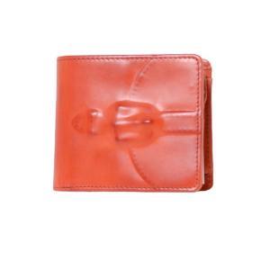 ミハラヤスヒロ MIHARAYASUHIRO 二つ折り財布 炙り出し レッド|yokoaunty