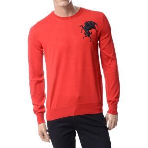 アレキサンダーマックイーン(Alexander McQueen) 刺繍入りセーター レッド|yokoaunty