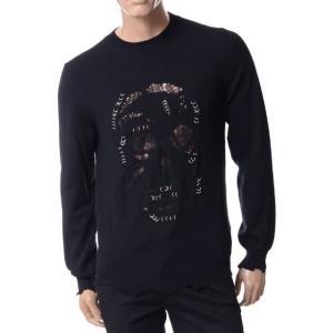 アレキサンダーマックイーン(Alexander McQueen) スカルセーター ウールカシミア ブラック|yokoaunty
