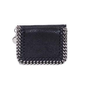 ステラマッカートニー stella mccartney ファラベラ三つ折りミニ財布 人工皮革 ブラック|yokoaunty