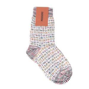 ミッソーニ Missoni ロゴ入り靴下 羊毛など ミックス|yokoaunty