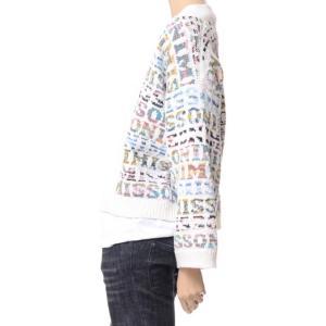 ミッソーニ Missoni ロゴ入り圧縮カーディガン 羊毛ナイロン ホワイトベース yokoaunty 02