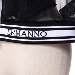 エルマノシェルビーノ ermanno scervino ブルゾンジャケット オーガンジー ブラック|yokoaunty|04