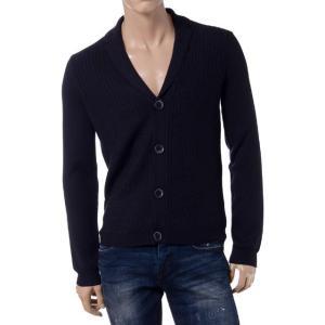 エンポリオアルマーニ(EMPORIO ARMANI) ニットジャケット ウール ネイビー|yokoaunty