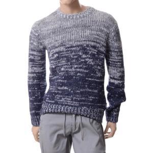 アルマーニジーンズ(ARMANI JEANS) グラデーションセーター グレーネイビー|yokoaunty