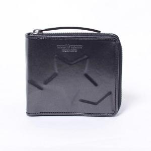 ミハラヤスヒロ(MIHARAYASUHIRO) スター二つ折り財布 ブラック|yokoaunty