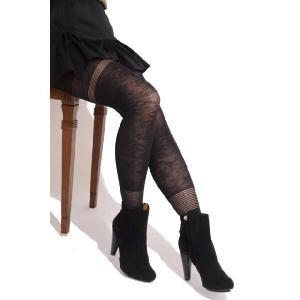 ベルトオーグランピエ berthe aux grands pieds フラワーストッキングタイツ ブラック・ピンクficod9999pink #S-M #M-L 【正規取扱店】|yokoaunty