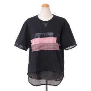 ステラマッカートニー stella mccartney アディダス adidas ロゴ半袖Tシャツ シングルジャージー ブラック yokoaunty
