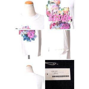 ゴールデングース(Golden Goose) ロゴ入りカットソーTシャツ コットンジャージー ホワイト|yokoaunty|06