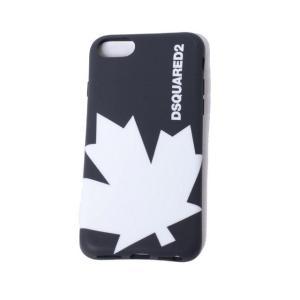 ディースクエアード Dsquared2 カエデiPhone8用ケース iPhone7 6S/6対応 ブラックホワイト|yokoaunty