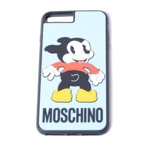 モスキーノ(Moschino) 犬iPhone7/8 Plusケース ライトブルー|yokoaunty