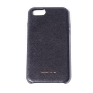 ウーゴカッチャトーリ ugo cacciatori iPhone 8用ケース 8/7/6s/6対応 牛革 ブラック|yokoaunty