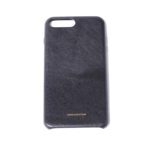 ウーゴカッチャトーリ ugo cacciatori iPhone 8 Plus用ケース 8/7/6s/6対応 牛革 ブラック|yokoaunty