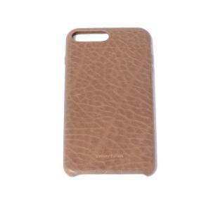 ウーゴカッチャトーリ ugo cacciatori iPhone 8 Plus用ケース 8/7/6s/6対応 牛革 ブラウン|yokoaunty