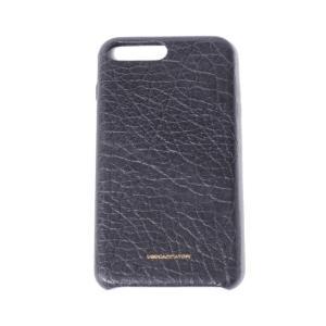 ウーゴカッチャトーリ ugo cacciatori 表面加工レザーiPhone 8Plus用ケース 8/7/6s/6対応 牛革 ブラック|yokoaunty