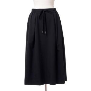 スタジオヨコ Studio yoCo ウエストゴム付きスカート ウールギャバ ブラック yokoaunty
