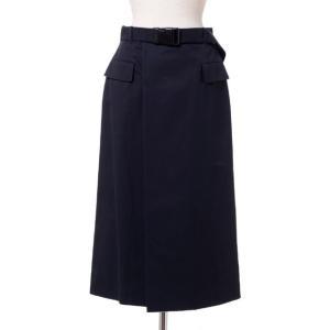 メゾン マルジェラ Maison Margiela 部分シルバータイトスカート コットンなど ブラック yokoaunty