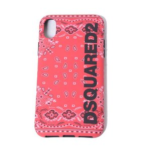 ディースクエアード Dsquared2 iPhone X用ケース バンダナ柄 レッド|yokoaunty